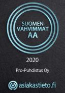 Logo Suomen vahvimmat yritykset AA 2020